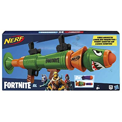 Nerf Fortnite RL Blaster - Fires Foam Rockets - Includes 2 Official Nerf Fortnite Rockets - for Youth, Teens, Adults: Toys & Games