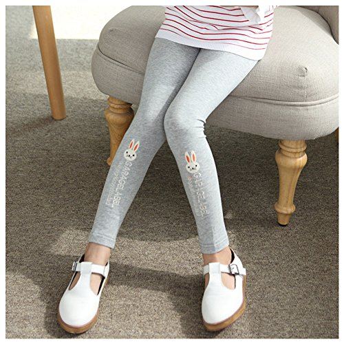 rabbit Grey Fille Leggings Print Amurleopard FqRwBxtAF