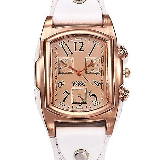 Scpink Retro Design Quartz Analog Lady Relojes, Relojes para Mujer, a la Venta Liquidación