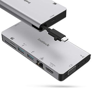 Amazon.com: Inateck USB C Hub, adaptador 8 en 1 tipo C ...