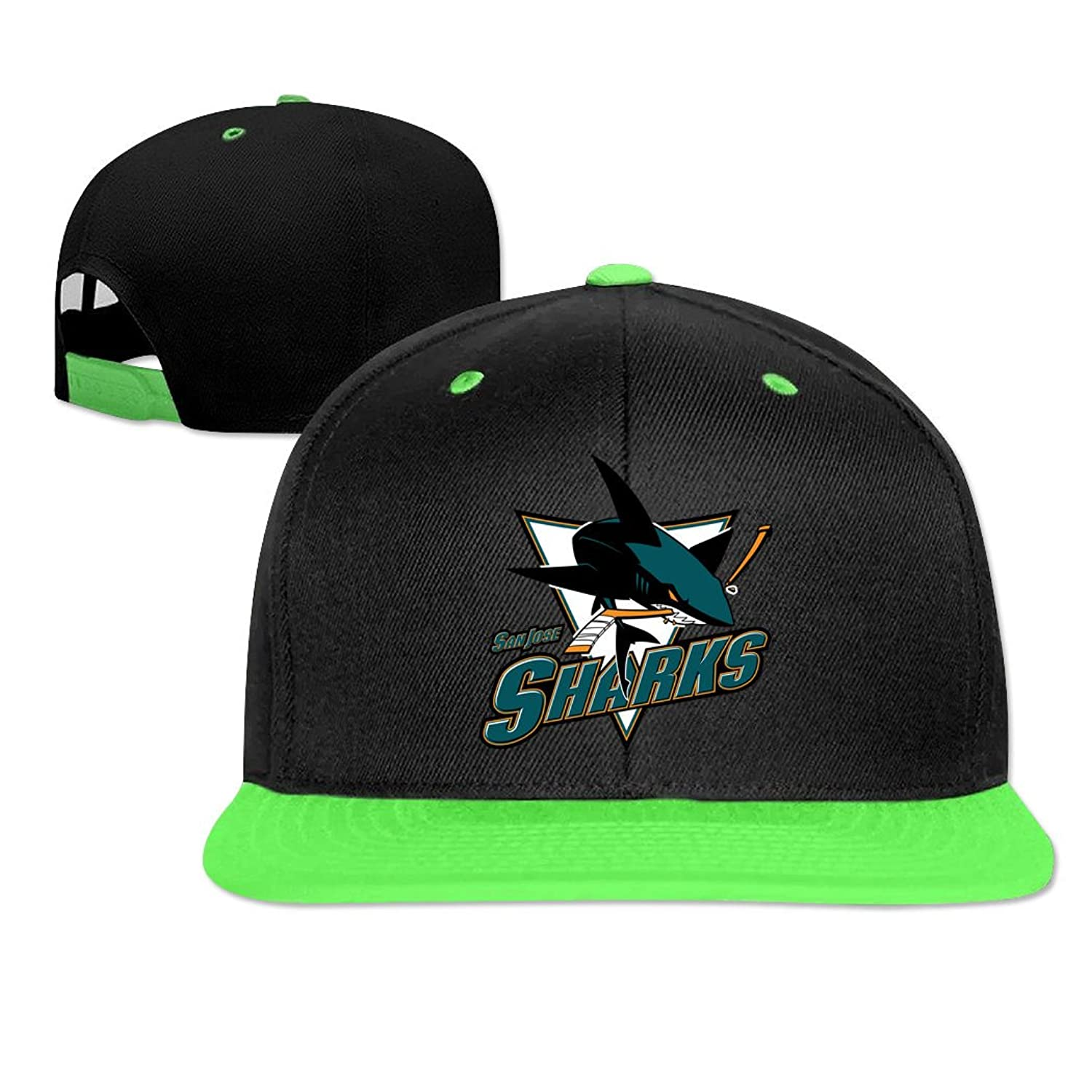 LEU Unisex San Jose Sharks NHL 2016 Hip Hop Caps Adjustable Sun Hat