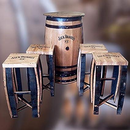 Jack Daniels Fass Tisch.Amazon De Terrassentisch Und Hocker Aus Einem Recycelten
