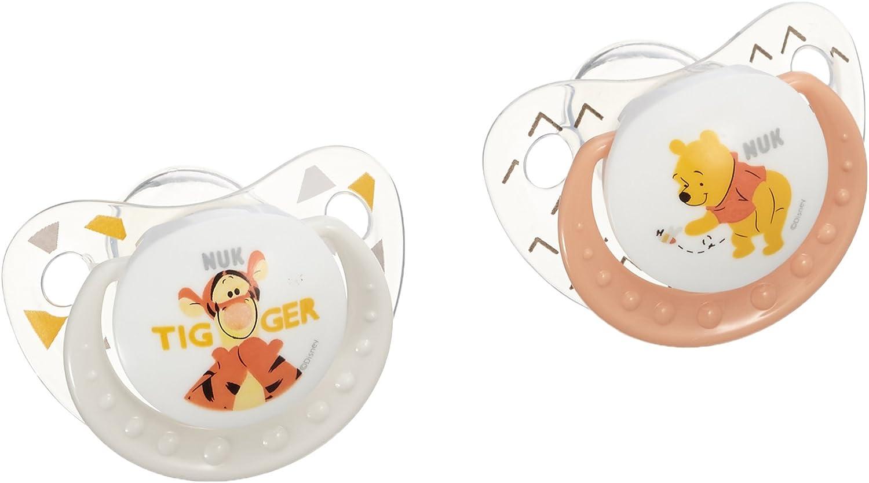 Nuk Winnie 710112 - Lote de 2 chupetes, talla 2, surtido: colores aleatorios: Amazon.es: Bebé