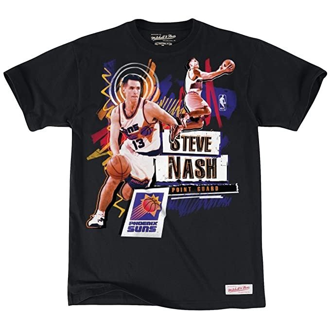 Mitchell & Ness Phoenix Suns Steve Nash tailored player NBA T-Shirt negro negro Talla:extra-large: Amazon.es: Deportes y aire libre