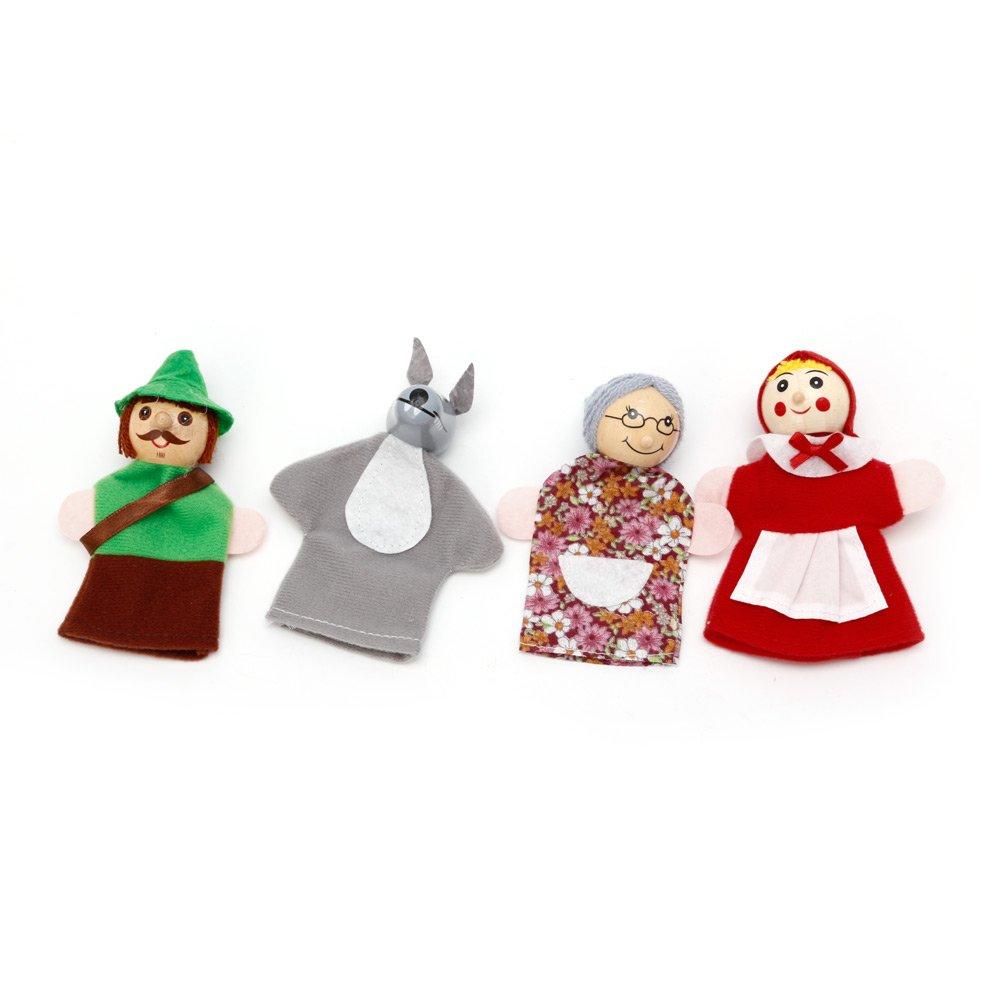Longsw Fingerpuppen Rotkä ppchen und Wolf Fairy Story Play Spiel Fingerpuppen Spielzeug Set