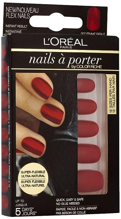LOréal Paris Nails a Porter Flex 007 Femme Fatale - estuches de extensiones de