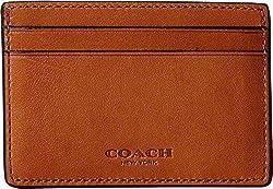 COACH Men's Sport Calf Money Clip Card Case Black Money Clip