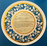 Paper Cut Floral Ketubah Marriage Wedding Contract Including Storage Envelope Choice of Colors Personalization and Gold Accents Available Double Mat Included!