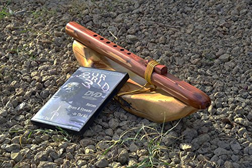 Windpony key of A-6 hole Cedar Native American Style flute with DVD