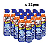 Blow Off Compressed Air Duster Can Cleaner Non-Toxic & No Bitternt 8oz. Stop The Build-up of Dust in Your Electronics. Made in The U.S.A.Pack of 12