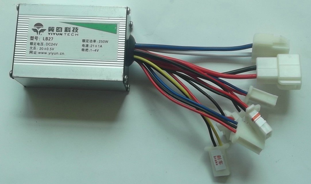 24V 250W motor Brush Speed controller for Electric bike bicycle ...