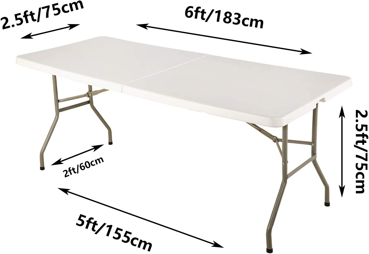 10 Pack Spandex Table Covers 6 Feet, Stretch/Fitted Table Covers for 6 Feet Folding Table, Rectangular Spandex Table Cloths for Wedding Party or Event by FELIZEST 6pack-black