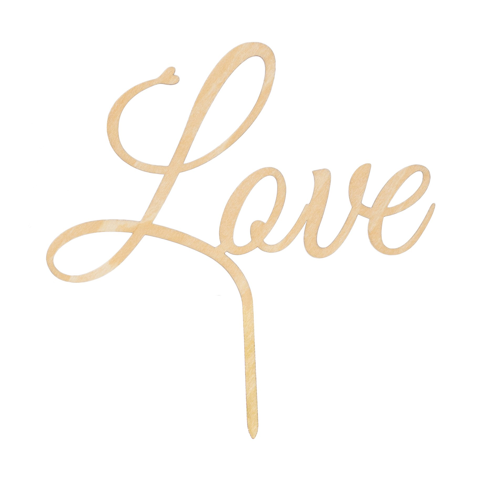 LOVENJOY with Gift Box LOVE Monogram Wedding Engagement Cake Topper Rustic Wood, 6.1-inch by LOVENJOY (Image #5)