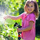 8 Spray Pattern Garden Hose Nozzle by Vila -- Multi-use, fits all standard hoses - Sturdy design makes it Heirloom Gift - Anti-leakage