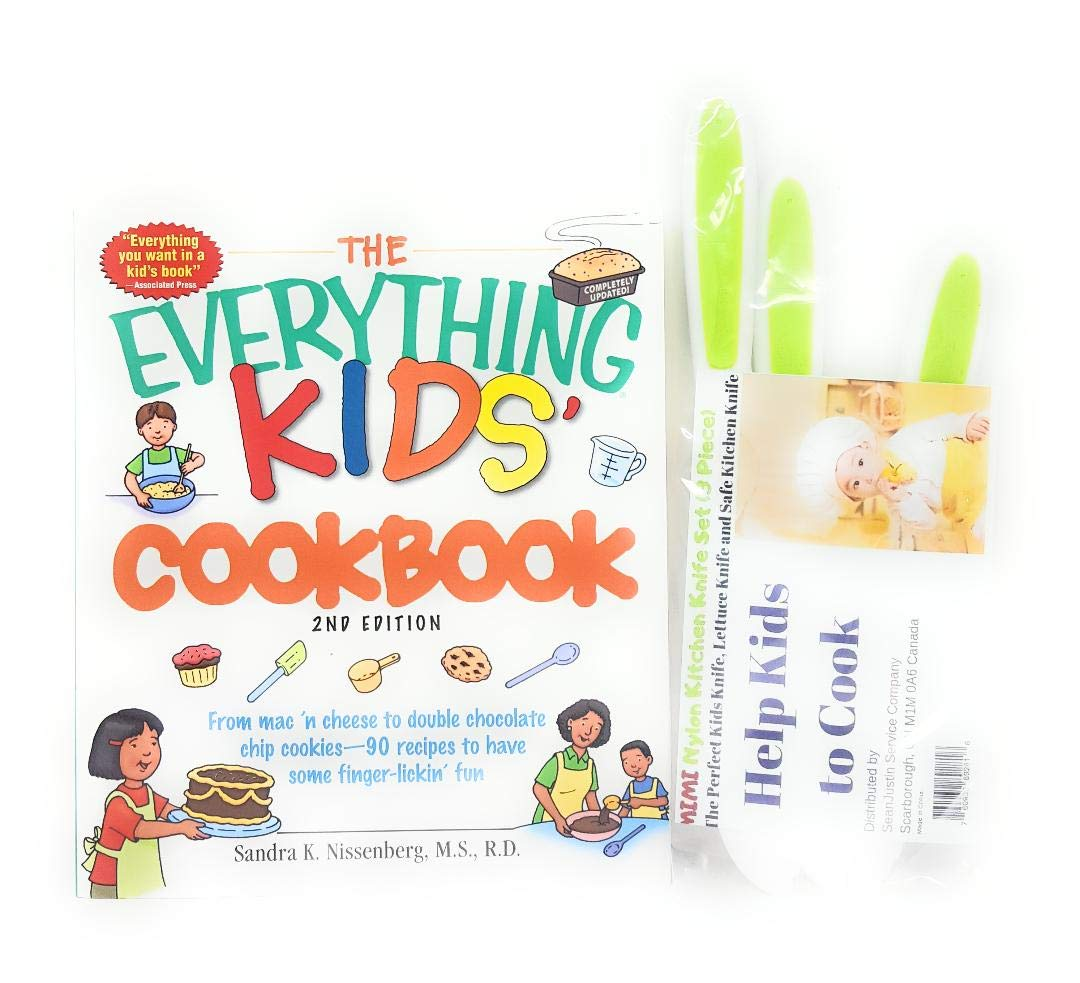 Several Mimi Nylon Knife Bundle with The Everything Kids: Cookbook 2nd Edition Paperback by Several
