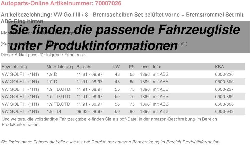 Frein freins Jeu Set Kit Bremsenset ARRIÈRE MÂCHOIRES DE FREIN ARRIÈRE VW