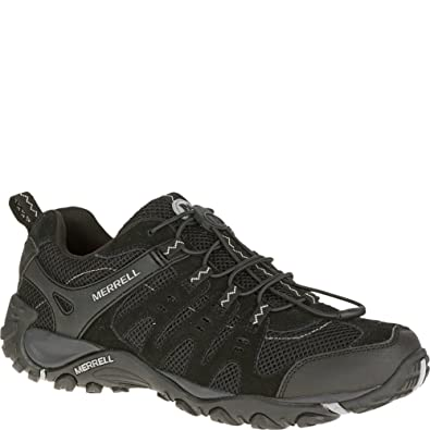 ca01134d Merrell Mens Accentor Stretch Black Athletic Hiking Walking Shoes ...