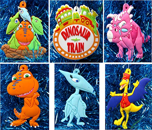 Ornament Dinosaur Train Holiday Christmas Set - Unique Shatterproof Plastic Design -