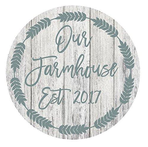 """Our Farmhouse Est 2017 Rustic Metal Sign - 11.75"""""""
