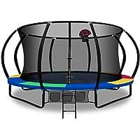 Trampoline 14ft 16ft Kids Indoor Outdoor Plum Exercise Trampolines with Enclosure Basketball Hoop Everfit