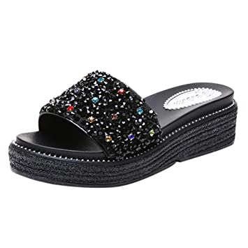 7f6c1b980b218 Amazon.com: ❤ Sunbona Women Wedges Slippers Ladies Summer Fashion ...
