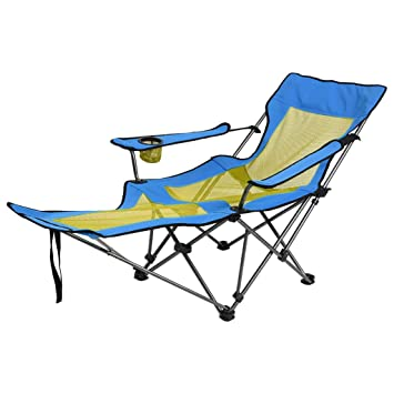 Swell Amazon Com Portable Folding Camping Lounge Chair Heavy Duty Unemploymentrelief Wooden Chair Designs For Living Room Unemploymentrelieforg