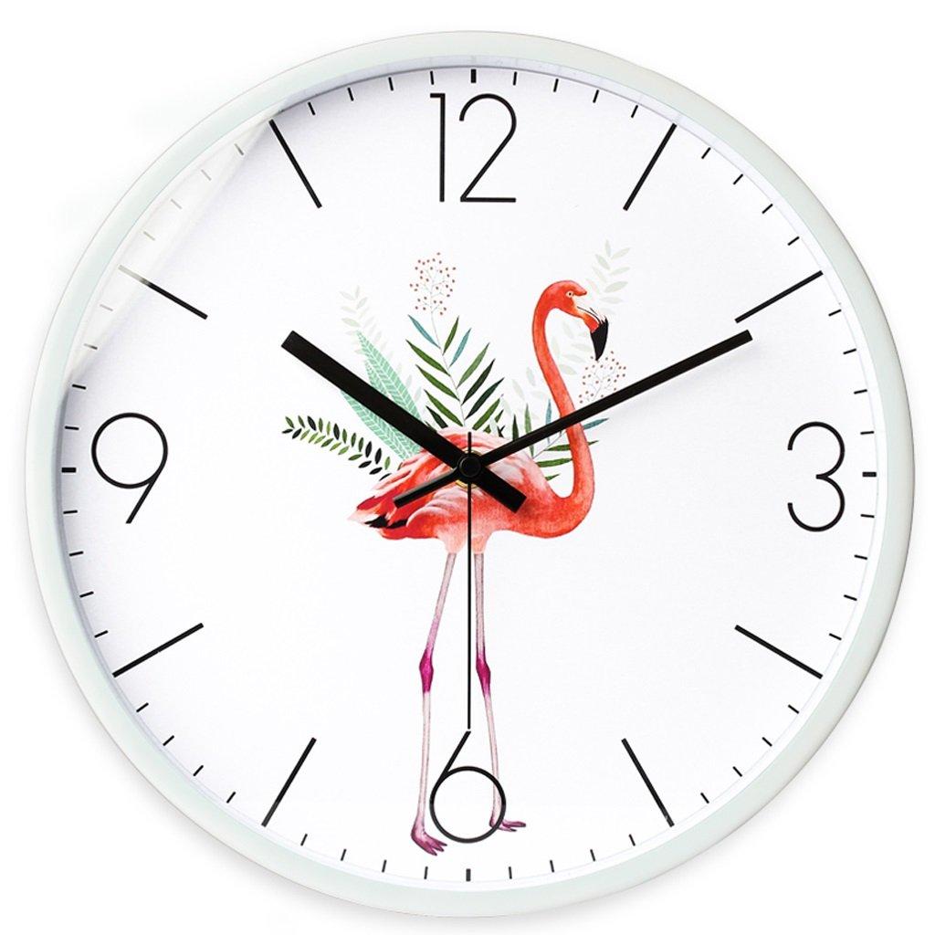 掛け時計 時計リビングルームウォールクロックモダニズム時計ミュートウォッチベッドルームクリエイティブウォールクォーツ時計 Rollsnownow (色 : 白, サイズ さいず : 12インチ) B07C8KN53Y 12インチ|白 白 12インチ