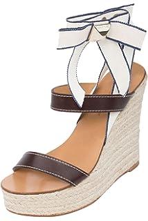 Amazon.com: Dsquared Women's Black Wrap Around Ankle Strap Sandals ...