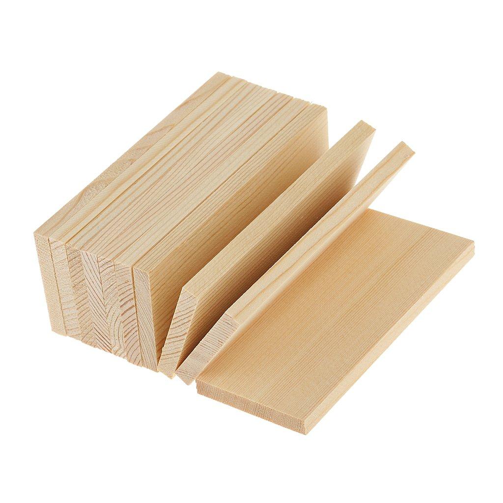 Tablas de madera de pino Magideal, 10piezas, diseño de madera natural, para modelado de artesanías, proyectos de bricolaje, 10 cm 10piezas