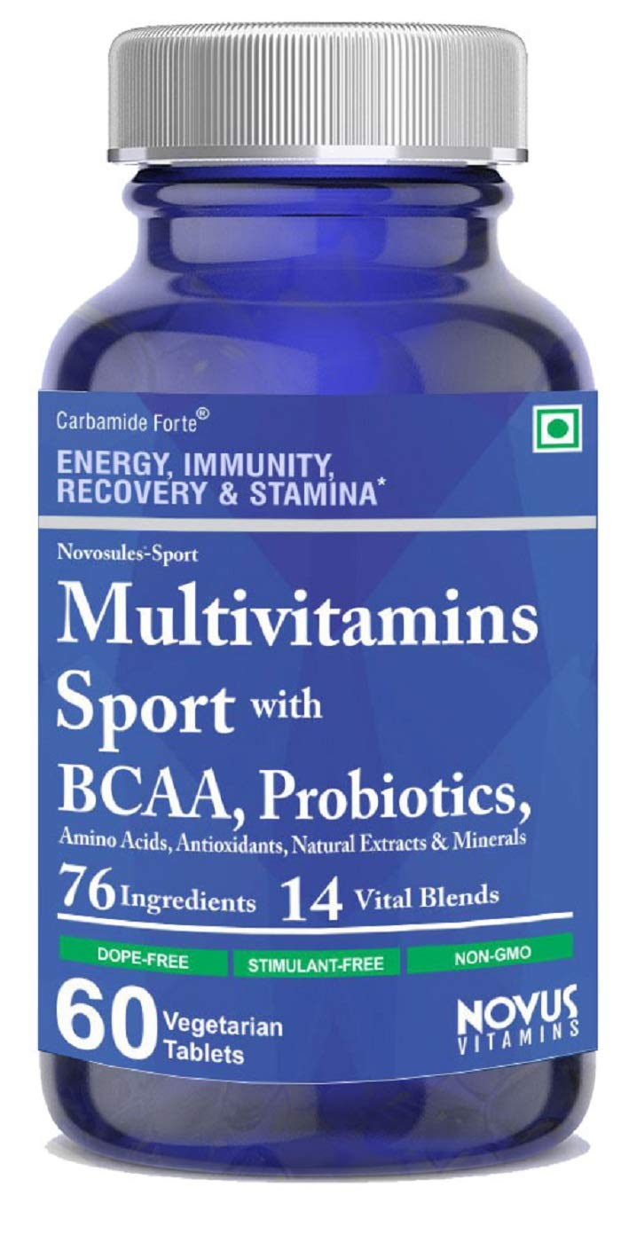 Carbamide Forte Multivitamin Sport for Men & Womens with 76 Ingredients & 14 Blends like BCAA, Amino Acids, Probiotics and Minerals Supplement for Bodybuilding, Gym, Runners and Athletes - 60 Veg Tablets (B0821M15BS) Amazon Price History, Amazon Price Tracker