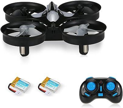 Opinión sobre Mini Drone Cuadricóptero 2.4G 4CH Girocompás 6 Ejes Antiaplastamiento con Modo de Retorno y sin Cabeza - Quadcopter Helicopteros Headless JJRC H36 color negro con 2 baterías