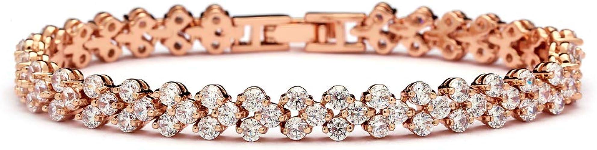 "Mariell 6 3//8/"" 14KT Gold Plated CZ Wedding Bridal or Prom Petite Tennis Bracelet"