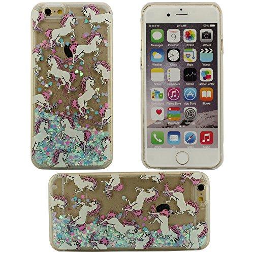 Fließfähige Flüssigkeit Phosphor Märchen Einhorn Weißes Pferd Hartplastik Schutzhülle Abdeckung case für Apple iPhone 6 plus / 6S plus Hülle 5.5 inch kann nicht iPhone 6 passen