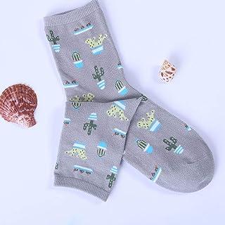 hhsmdaPlant Cactus Pattern Socks Chaussettes Mignonnes Confortables(5 Paires)