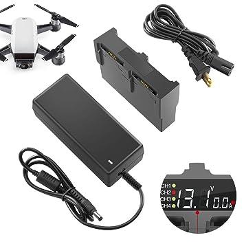 Amazon.com: Cargador de batería para DJI Spark Drone ...