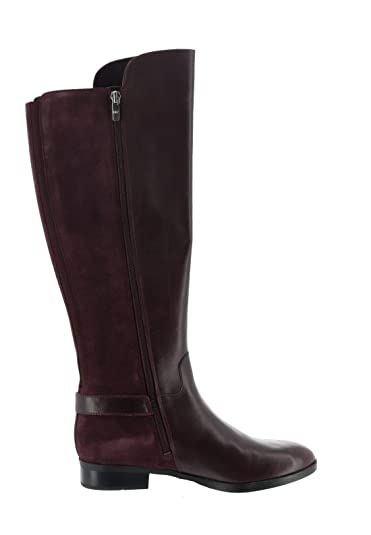 68f4f4dcaa206 Marc Fisher Medium Calf Tall Shaft Leather Boots Damsel Burgundy 5M New  A281482