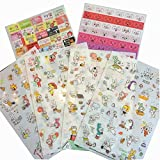 Decorative Stickers DIY Diary/ Photo Album Stickers,12pcs [Large Glasses Rabbit]