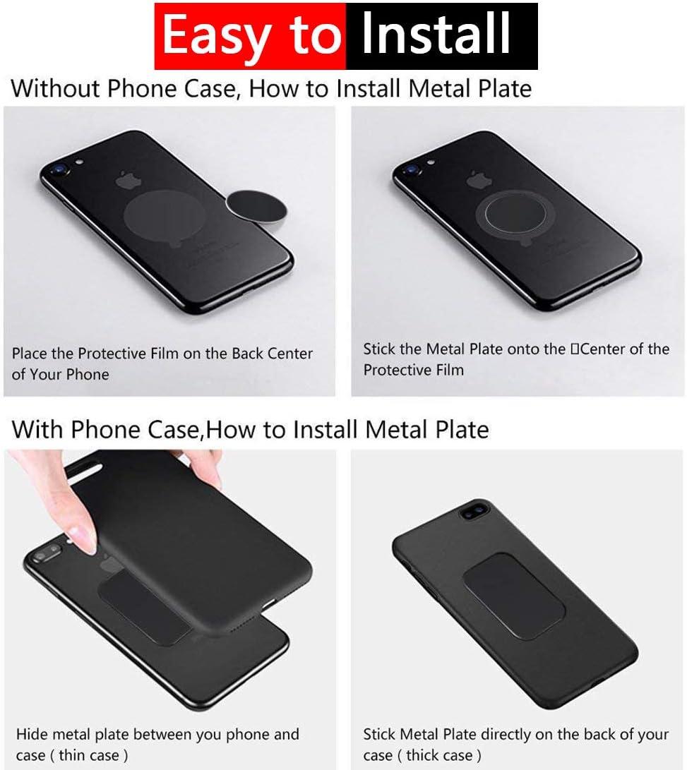 Black Universal 360 Degree Rotation Magnetic Phone Car Mount Holder,Black