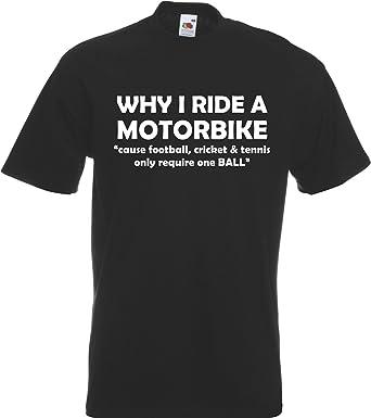 Why I Ride a Motorbike Funny Biker Rider Motorbike T-Shirt TShirt ...