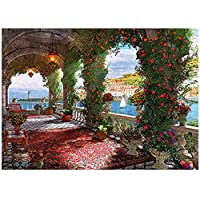Alician 1000 Pieces Jigsaw Puzzles Educational Toys Scenery Space Stars Educational Puzzle Toy for Kids/Adults Christmas Halloween Gift Rose corridor