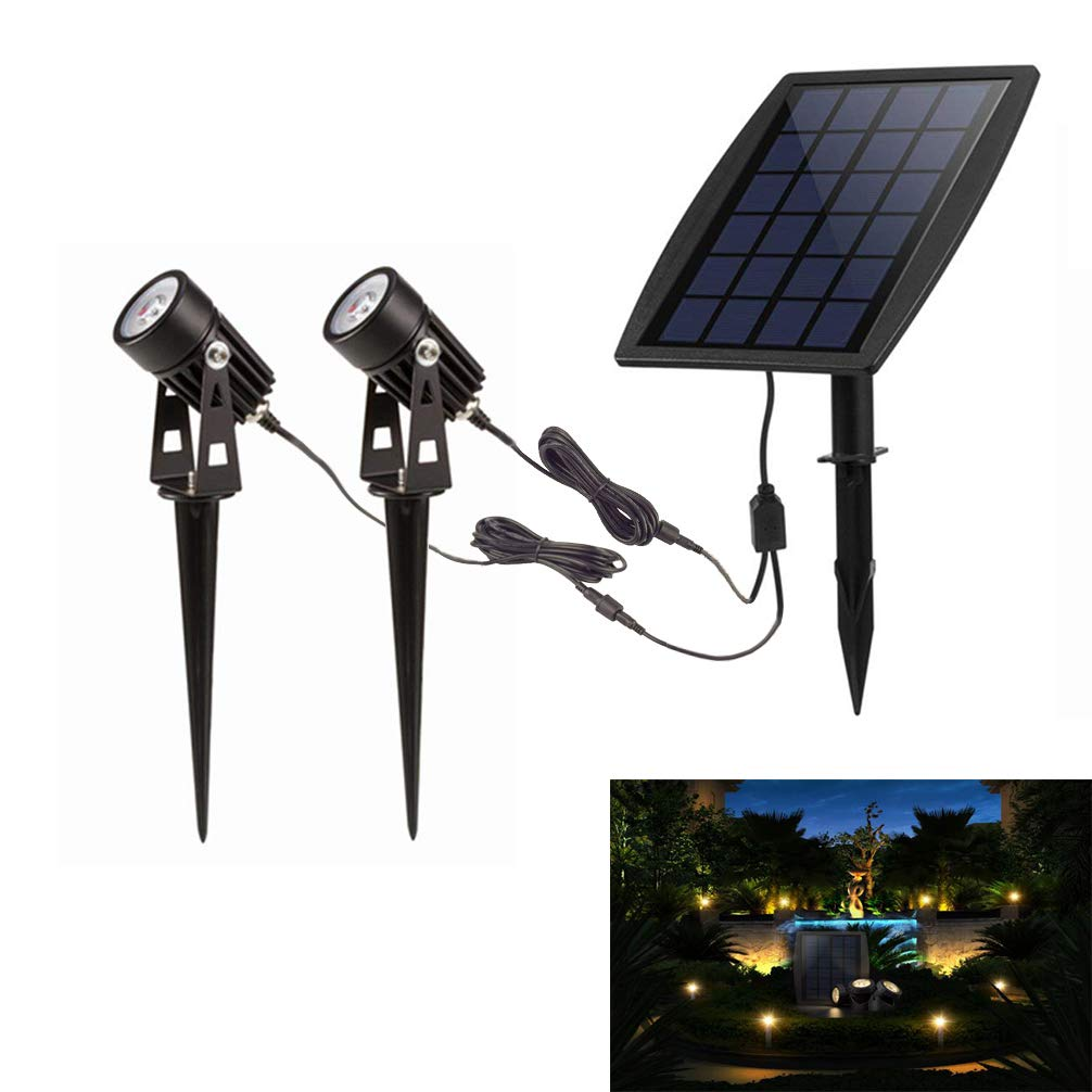 Led Solar Powered Lights, Outdoor Low Voltage Garden Spotlight
