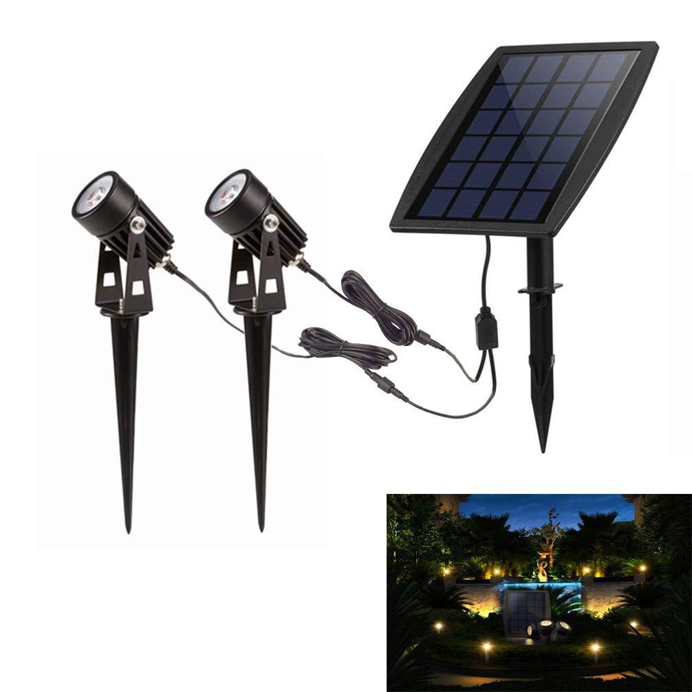Led Solar Powered Lights, Outdoor Low Voltage Garden Spotlight