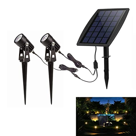 Solar Lamps Solar Powered Led Spot Light Outdoor Waterproof Landscape Lighting Spotlight Security Lamp For Garden Pool Pond Lawn Pathway Factory Direct Selling Price