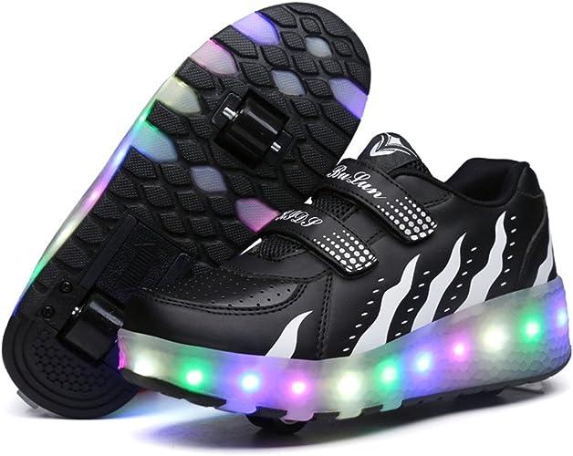 Unisex Kids LED Roller Skate Shoes with