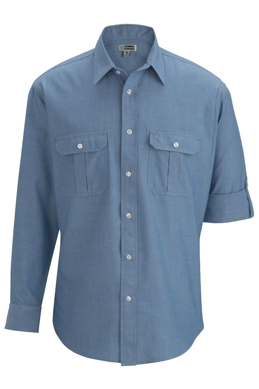 Edwards Garment SHIRT メンズ B07CB82LXH  ライトブルー Large