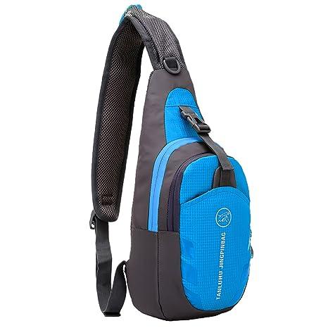 8bc2dcb662bfd8 MPTECK @ Blu Impermeabili da Crossbody bag Sportivo Borse a spalla Zaino  Monospalla Petto borse palestra