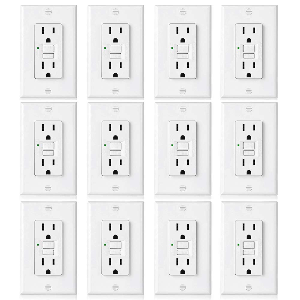 Best Rated In Ground Fault Circuit Interrupter Outlets Helpful Christmas Lights Wiring Types 12 Pack Bestten 15a Gfci Slim Series Non Tamper
