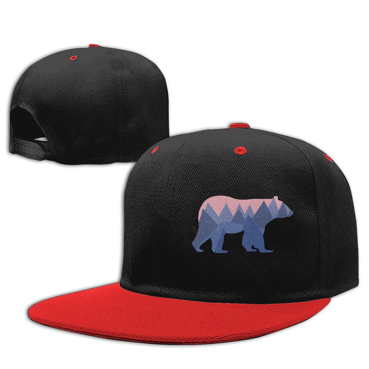 Bear Mountain Adults Flat Bill Baseball Caps NMG-01 Women Men Trucker Cap