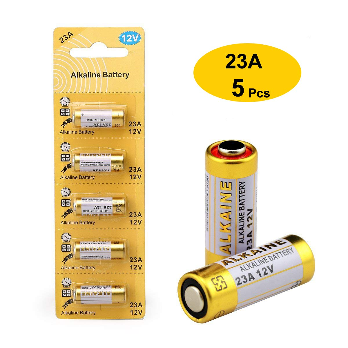 LiCB 23A 12V Alkaline Battery (5-Pack)