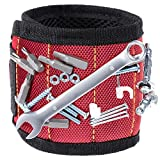 Vastar Magnetic Wristband With 5 Powerful Magnets for Holding Screws, Nails, Bolts, Drill Bits, Fasteners, Scissors, and Other Small Tools